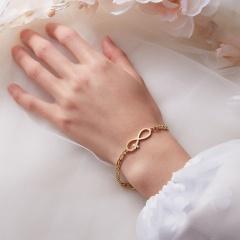 Stainless Steel Bracelet For Women Man Infinite 8 Guitar Music Note Gold Color Pulseira Feminina Lover's Engagement Jewelry infinite 8