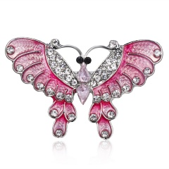 Fashion Handmade Hollow Butterfly Dragonfly Animal Brooches Rhinestone Colorful Brooch Pins For Women Daily Party Jewelry Gifts butterfly 2
