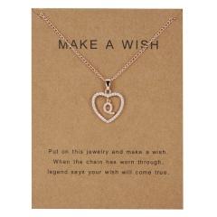 Fashion Womens Gold Plated Initial Alphabet Letter Q-U Pendant Chain Necklaces Q