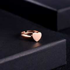 7 Size Rose Gold Adjustable Letters A-Z Rings Personalized Custom DIY Heart Women Name Ring Wedding Jewelry A