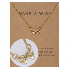 Paper card diamond long strip star pendant clavicle chain necklace NC18Y0493-G1