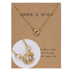 Wholeslae Paper card necklace pendant clavicle chain #4