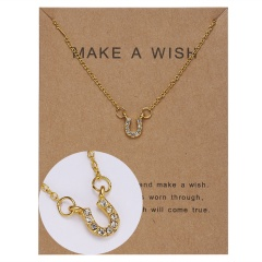 Wholeslae Paper card necklace pendant clavicle chain #7