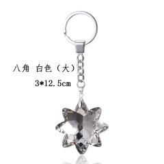 Octagonal star flower crystal keychain KC17Y029M2