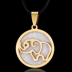 Women Gold Stainless Steel Butterfly Elephant Animal Pendant Necklace Jewelry Elephant