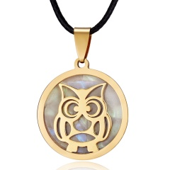 Women Gold Stainless Steel Butterfly Elephant Animal Pendant Necklace Jewelry Cute Owl
