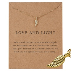Gold Plated Moon Note Charms Pendant Chain Necklace Women Girls Jewelry Gifts Love and light