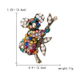 New Hot Vintage Fashion Animal Brooch Pin Koala Hedgehog Frog Pearl Crystal Animal Enamel Brooch Women Party Jewelry Accessories Koala