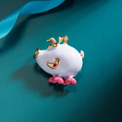 Rinhoo Cute Fashion 5 Styles Available Enamel Pig Brooches for Women Chinese Pig Year Animal Pins Cute Cartoon Style Brooch Good Gift Pig 1