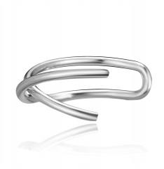 1 Piece Simple Ear Hook Earrings Wholesale silver