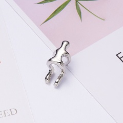 New Silver/Gold Climbing Man Nake Climber Ear Cuff Helix Cartilage Earring Gift Silver