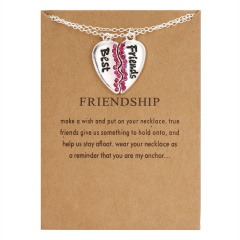 Best Friends Letter Pendant Necklace Clavicle Chains Choker Card Women Jewelry Best Friends(5)