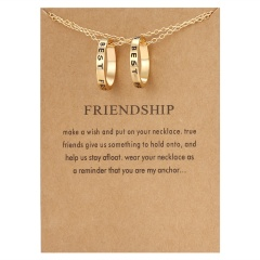 Best Friends Letter Pendant Necklace Clavicle Chains Choker Card Women Jewelry Forever Best Friends(1)