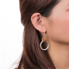 Fashion Geometric Teardrop Round Pendant Hook Earrings for Women Jewelry One Circle