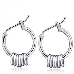 Geometric Drop Dangle Earrings Cross Feather Charms Earrings circle