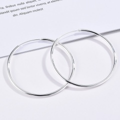 Glossy Large Circle Ear Buckle Earrings Women Jewelry Gift 2