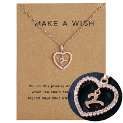 Womens Gold Plated Initial Alphabet Letter V-Z Pendant Chain Necklaces Y