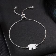 925 Jewelry Silver Color Animal Charm Bracelets Dragonfly Elephant Owl Horse Pendant Link Chain Bracelet for Women Jewelry Gift Bracelet 1