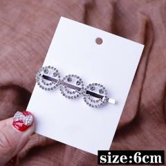 Crystal Hair Clip Pin Smile Face