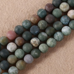 8mm Wholesale Natural Gemstone Round Spacer Loose Beads Bracelets Necklace Black