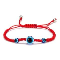 Rinhoo 5 Style evil Eye Weave Red Rope Bracelet blue eyes palm Braided adjustable bracelet Fashion lucky jewelry for women kids 3 blue eyes