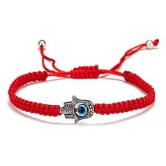 Rinhoo 5 Style evil Eye Weave Red Rope Bracelet blue eyes palm Braided adjustable bracelet Fashion lucky jewelry for women kids palm 1 blue eye