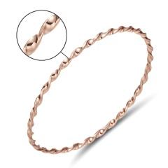 Rinhoo 2019 Hot Fashion Gold Color Trendy Bracelet Bangle Women Jewelry Summer Style Simple Twisted Small Twist Pattern Bracelet rose gold 1