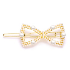 New Fashion Bowknot pearl side clip hair clip hairpins for women girls bowknot1