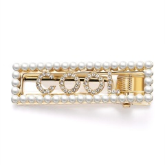 Girl Pearl Crystal Geometric Hair Clip Hairband Bobby Pin Barrette Hairpin Party COOL