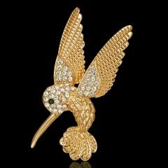 Rinhoo Rhinestone Pin Newest Animal Brooches Women Insect Pegasus Enamel Badge Dress Hat Coat Accessories Cute Jewelry Hummingbird