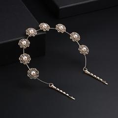 Flower Pearl Headband Bridal Hair Accessory Pearl