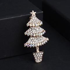 Crystal Tree Brooch Pin Tree