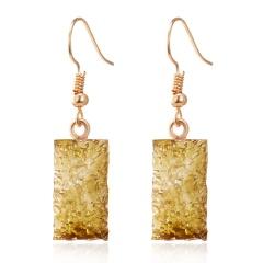 Fashion Geometry Resin Earrings Yellow