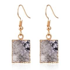 Square resin earrings Black