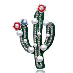 Plant brooch cactus