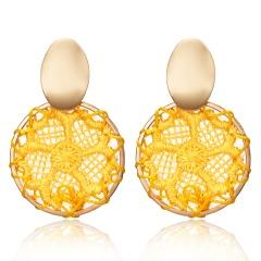 Charm Boho Geometric Dreamcatcher Stud Earrings Dangle Drop WomenJewellery Gift Yellow