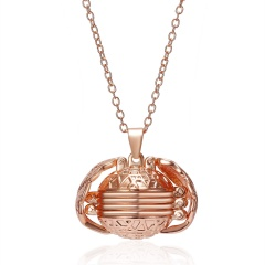 Rainbow Magic 8 Photos Pendant Memory Floating Locket Necklace Angel Wings Flash Box Fashion Can Open Pictures Box Necklaces Rose gold