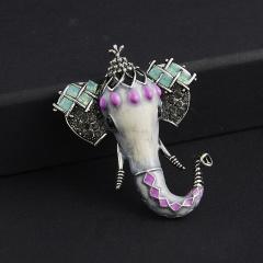Fashion Elephant Sika Deer Bird Animal Brooch Pin Wedding Costume Christmas Gift Elephant