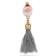 Christmas Bell Tassel Dorp Snowman Brooch Pin Collar Badge Jewelry Party Gifts Santa Claus tassel