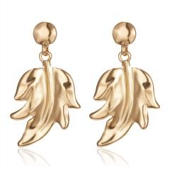 Fashion Gold Leaf Flowers Boho Earrings Dangle Stud Women Party Statement Gift Leaf