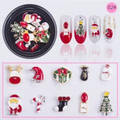 10Pcs 3D Christmas Nail Art Decal Transfer Sticker Splendid Manicure Accessories 02#