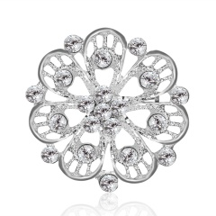 Luxury Crystal Wedding Bridal Flower Bouquet Brooch Pins Women Party Jewelry My Queen
