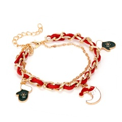 Santa Claus Bracelet Multi-layer Bangle Xmas Gift Christmas Moon