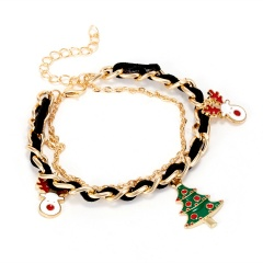 Santa Claus Bracelet Multi-layer Bangle Xmas Gift Christmas Tree&Elk