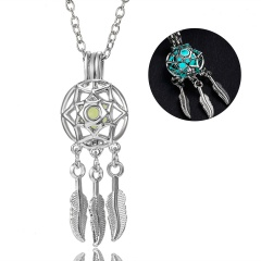 Dream Catcher Luminous Pendant blue+green