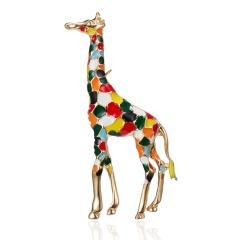Creative Christmas Gifts Rhinestone Elk Deer Brooches Imitation Pearl Sika Deer Pins Sweater Badges For Women Men Kids Xmas Gift Elk 3