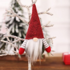 1pc Santa Claus Pendant Faceless Doll Gift Doll Christmas Decoration Red