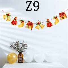 1PC Christmas Ceiling Decoration Ornaments Cartoon Hanging Pull Flag Z9