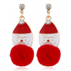 Christmas Jewelry Earrings Cute Santa Claus Elk Snowman Lovely Xmas Tree Socks Bell Hats Romantic Christmas Gifts Brincos Heads
