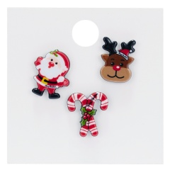 Rinhoo 1SET Colorful Christmas Snowman Hat Gift Box Shape Acrylic Brooch With Cardboard For Women's Fashion Jewelry Gift Christmas set 1